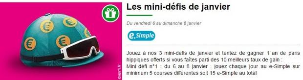 le premier des 3 mini-défis turf de janvier sur PMU.fr
