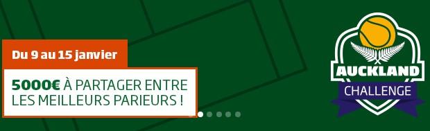 Pariez sur les tournois de tennis de Sydney et Auckland avec PMU