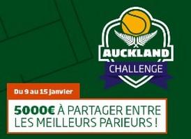 Le Challenge tennis de PMU sur les tournois de Sydney et Auckland
