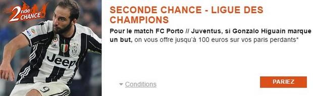 Seconde Chance FC Porto/Juventus avec PMU.fr