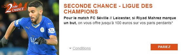 Seconde Chance PMU FC Séville/Leicester