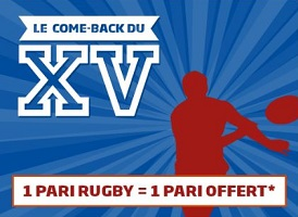 Come Back du XV avec PMU du 4/02 au 18/03 avec jusqu'à 25 € de bonus à empocher