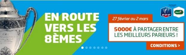 5.000€ mis en jeu sur les 8èmes de la Coupe de France sur PMU