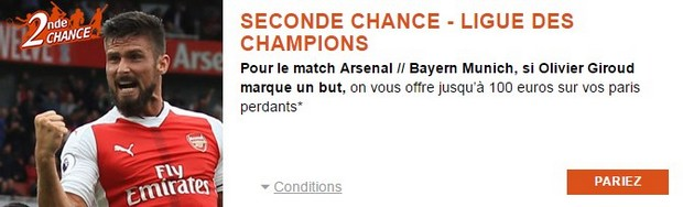 Pariez sur Arsenal/Bayern avec PMU.fr width=