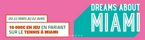 Pariez sur le tournoi de Miami 2017 avec PMU.fr
