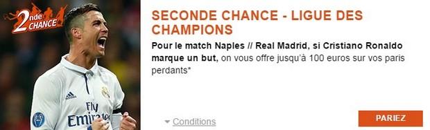 Pariez en seconde chance sur Naples/Real de Madrid avec PMU