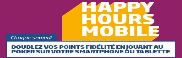 Happy Hours sur mobile avec PMU Poker chaque samedi de mars