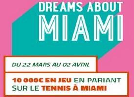Un challenge tennis sur PMU pour le tournoi de Miami
