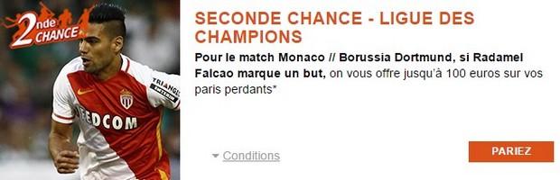 100€ remboursés par PMU pour Monaco-Dortmund en 1/4 de finale retour de la LDC