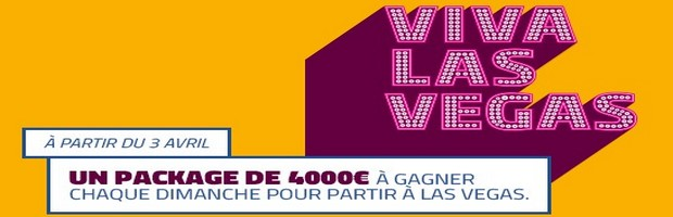 40.000€ mis en jeu avec l'offre Viva Las Vegas 2017 de PMU Poker