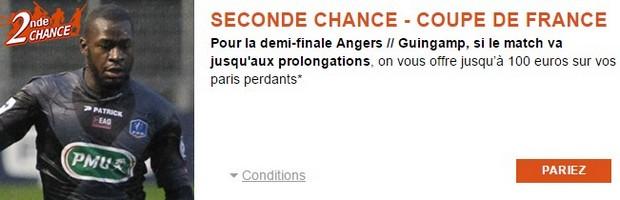 Angers-Guingamp en 1/2 finale de la Coupe de France avec PMU