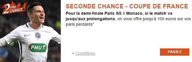 Pariez en Seconde Chance sur PSG-Monaco en Coupe de France