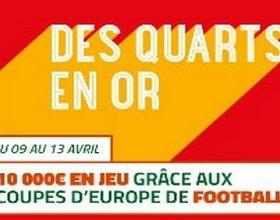 PMU met 10.000€ en jeu sur les Coupes d'Europe de foot du 9 au 13 /04