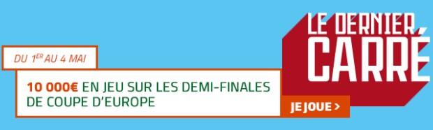 10.000€ mis en jeu par PMU sur les 1/2 finales des Coupes d'Europe de foot