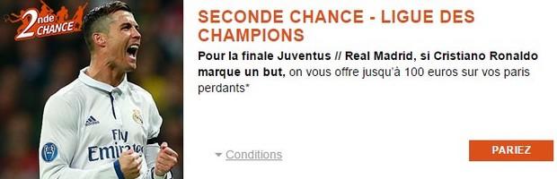 Seconde Chance PMU sur la finale de la Ligue des Champions