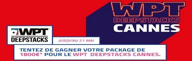 Remportez un package WPT Cannes chaque dimanche avec PMU Poker