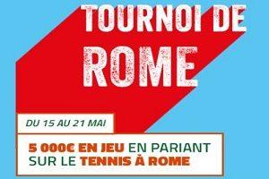 De 25 € à 500 € de bonus à gagner sur PMU pour le tournoi de Rome