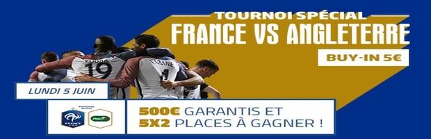 Participez au tournoi France vs Angleterre sur PMU