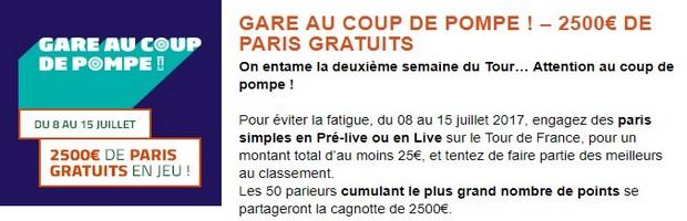 2.500€ mis en jeu par PMU sur la seconde semaine du Tour de France