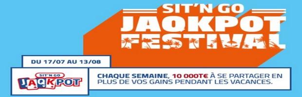 40.000€ mis en jeu par PMU Poker pour le Jaqkpot Festival