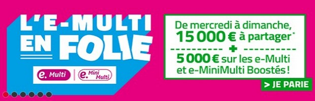 20.000€ en jeu avec l'e-multi en folie de PMU Turf