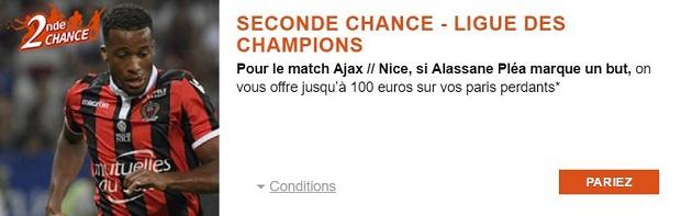 Jusqu'à 100 € indemnisés pour Ajax/Nice sur PMU