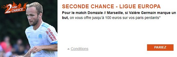 Seconde Chance PMU sur Domzale-Marseille en Ligue Europa