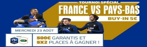 Des places pour France/Pays-Bas sur PMU Poker