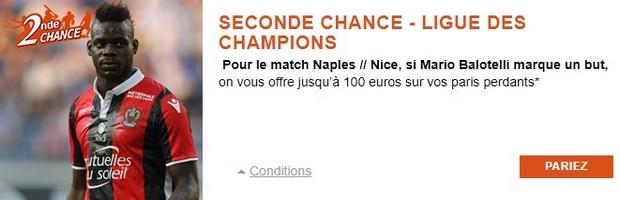 100€ offerts par PMU pour Naples-Nice en LDC le 16/08