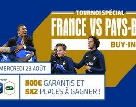 PMU Poker vous propose son tournoi France vs Pays-Bas le 23 août