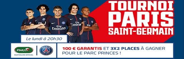 Dotation de 100 € + 6 places pour aller voir Paris au parc des Princes à gagner avec PMU Poker