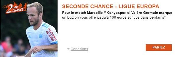 Jusqu'à 100 € indemnisés lors de Marseille/Konyaspor avec PMU