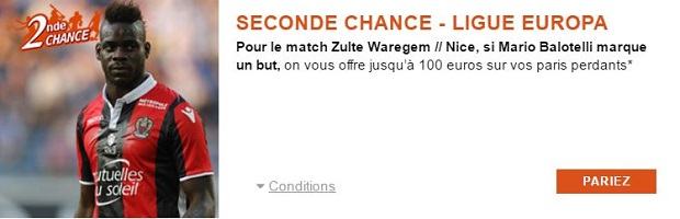 Seconde Chance Zulte-Waregem/Nice avec PMU