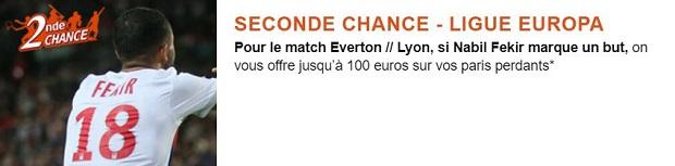 Misez sur Everton/Lyon en Europa League vaec PMU