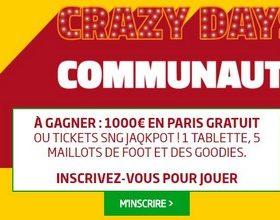 PMU vous propose son jeu gratuit Crazy Days Communauté