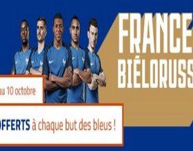 15€ offerts par PMU pour France-Biélorussie le 10 octobre