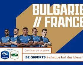 Obtenez jusqu'à 15 € de mises gratuites lors de Bulgarie/France sur PMU