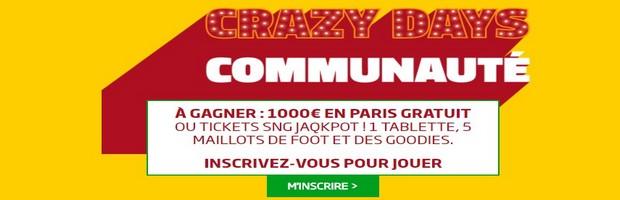 Profitez du jeu gratuit Crazy Days Communauté sur PMU.fr