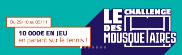 10.000€ mis en jeu par le tennis sur PMU.fr