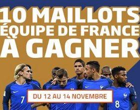 PMU met en jeu 10 maillots de l'équipe de France