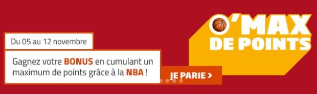 5.000€ mis en jeu par PMU sur la NBA du 5 au 12/11