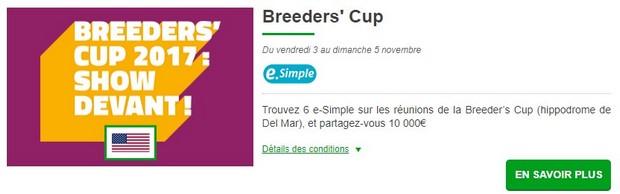 10.000€ mis en jeu par PMU.fr pour la Breeders' Cup 2017