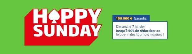 Profitez de 150.000€ de prizepool garanti sur PMU en janvier pour le Happy Sunday