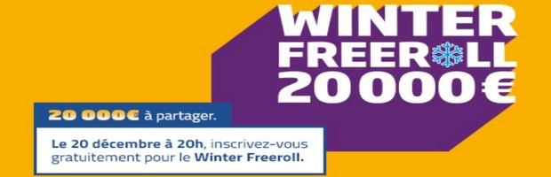 20.000€ en jeu pour le Winter Freeroll de PMU Poker