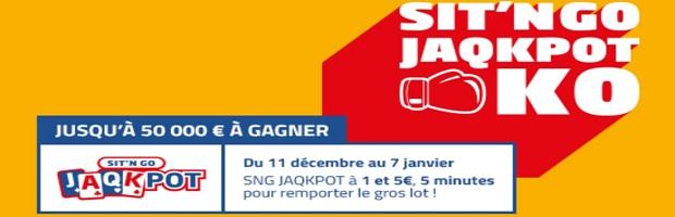 SNG Jaqpot KO sur PMU du 11/12 au 7/01
