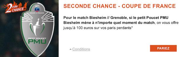 Pariez sur Biesheim/Grenoble en Coupe de France sur PMU