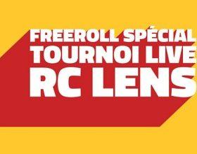 Participez aux freerolls RC Lens les 2 et 4/01 et qualifiez-vous pour un tournoi live à Bollaert