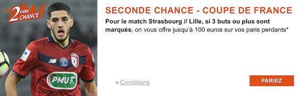 Strasbourg/Lille en Coupe de France le 25 janvier 2018 sur PMU