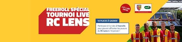Tournoi live spécial RC Lens sur PMU Poker