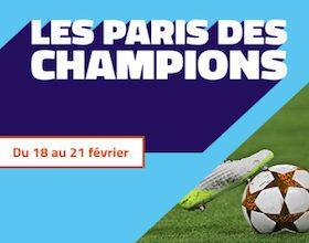10.000€ à partager entre le 18 et le 21/02 sur PMU lors des huitièmes aller de la Champions League